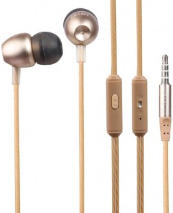Bluei Y7 In-Ear Metallic Earphone with Mic (Gold)
