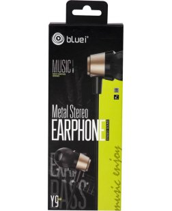 Bluei Y9 In-Ear Metal Stereo Earphone with Mic