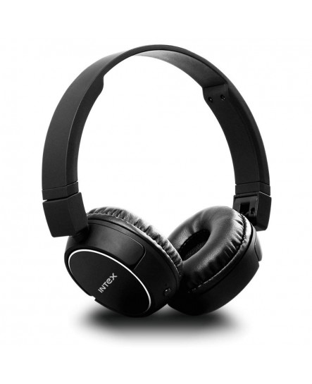 Intex Roar 201 Over-Ear Bluetooth Headphone with Seamless Controls, Pro Comfort Earcups, up to 24 Hours Playtime (Black)