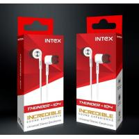 Intex Thunder 104 Wired in Ear Super Bass Earphones with Mic & 3.5mm Universal Jack (Black)