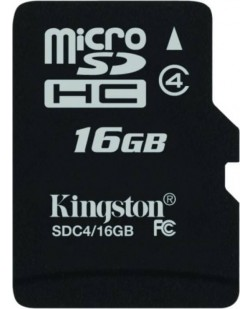 Kingston 16GB Class 4 Micro SDHC Memory Card