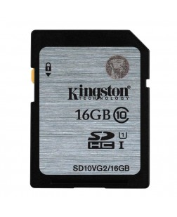 Kingston 16GB Digital SDHC Class 10 UHS-I 45R/10W Flash Memory Card