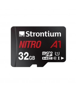 Strontium Nitro A1 32GB Micro SDHC 100MB/s A1 UHS-I U1 Class 10 with High Speed Adapter for Smartphones Tablets Drones Action Cams