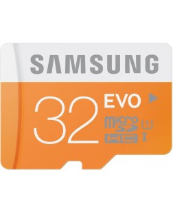 Samsung EVO Class 10 32GB MicroSDHC 48 MB/S Memory Card without SD Adapter (MB-MP32D/IN)