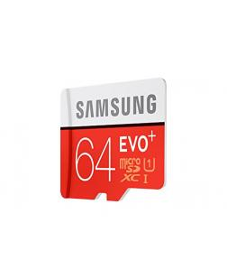 Samsung EVO Plus Class 10 64GB MicroSD 80 MB/S Memory Card with SD Adapter (MB-MC64D)