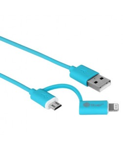 Bluei Fast Charging 2 in 1 Data Cable Supports - iphone5/5S, iphone6 and Micro USB Mobiles & Tablet (Multi Color)