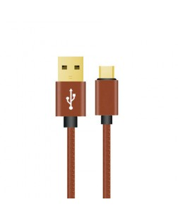 Digitek Platinum C Type Cable Leather Braided DPC 1M C LB