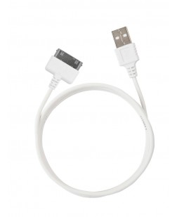 ERD PC-33 30 Pin To USB Data Sync And Charging Cable - White For iPhone 4