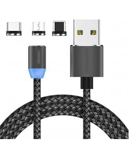 Magnetic USB-C Type-C Micro USB Chargeing Cable for All Android and iOS Phones