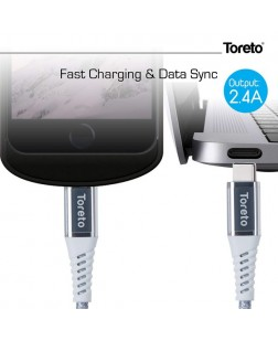 Toreto TOR-825 Type C to Lightning Data Cable for Mac Book, Type C and iOS Devices