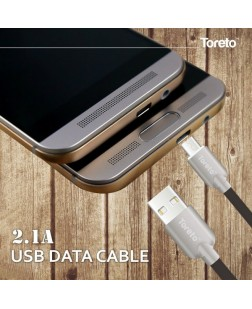 Toreto TTC-521 Type C Data Cable with 2.1A output