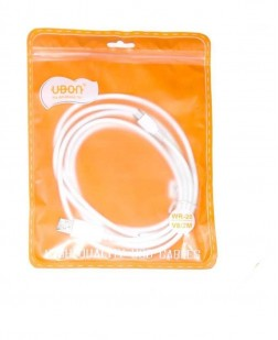 UBON V8 Micro USB Data Charging Cable For Smasung, Motorola, HTC, Sont, Vivo, Oppo & Other Smartphone (White)