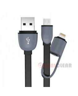 Generic 2 in 1 Charging Cable for IPhone & Micro USB Phones