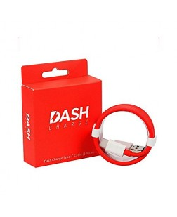 Dash Fast Speed Data Sync & Charging Cable - Type C (White & Red)