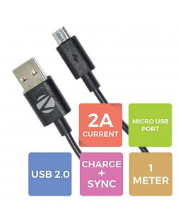 Zebronics ZEB-UMC100 High Quality Micro USB Cable Fast Charging and Data Sync Cable - 1M