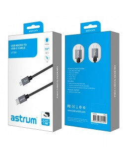 Astrum UT590 Micro USB Android to USB-C Charge & Sync Cable