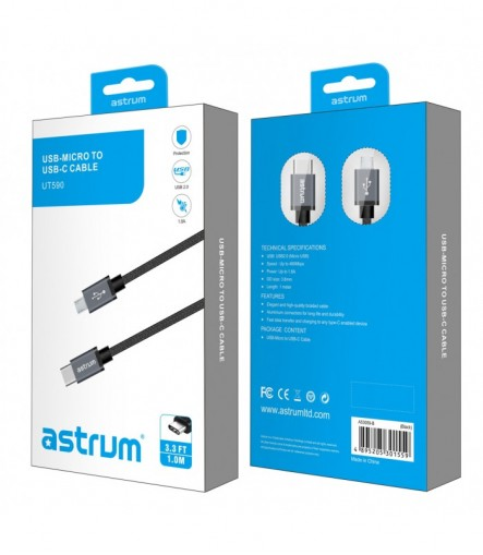 Astrum UT620 USB 3.0-A to USB-C Charge & Sync Cable