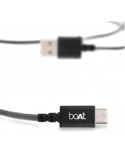 boAt A400-1m USB Cable All Phones With Type C (Grey)