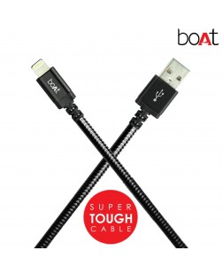 boAt LTG 800 Tough Lightning  Cable 1.0-Meter (Black)