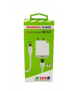ERD TC-100 USB Data Cable Mobile Charger (White)