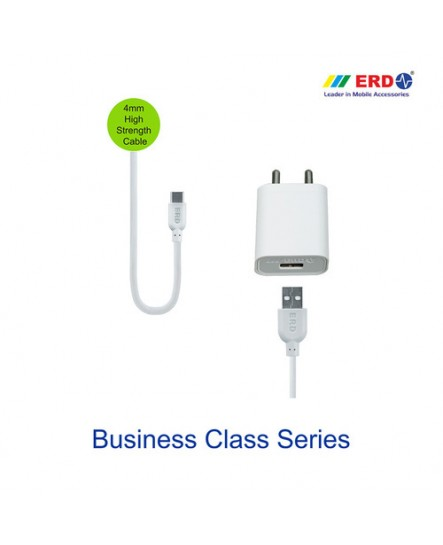ERD TC 50 Single Port Super Fast Mobile Charger (White)