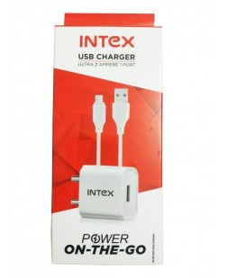 Intex 2.1 Amp Charger with Free USB Data Cable ISC2017U1
