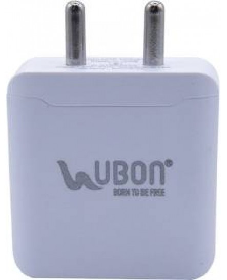Ubon CH-60 Fast Charger 5V 2A  for All Micro USB with Dual USB Ports (White) & Charging Cable