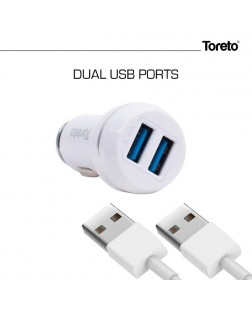 Toreto TOR-409 Dual Port USB Car Charger