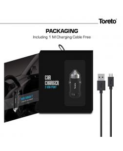Toreto TOR-4152 USB Port Fast Car Charger with USB Cable