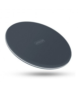 JOYROOM JR-W10 Pure Copper Coil Qi Wireless Charger Pad for phone X / Iphone 8 / 8 Plus And All Qi Compatible Devices (DARK GREY)