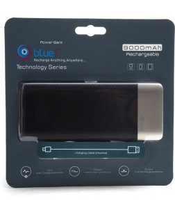 Bluei TS-X9 9000 mAh Li-Polymer Power Bank with 2 USB Output (Multi Color)