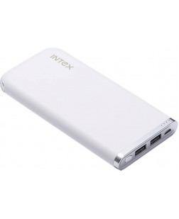 Intex Polymer 10000mAh Power Bank (White)