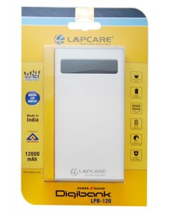Lapcare LPB120 12000mAh Li-ion Power House (Multi Color, 1 Year Warranty)