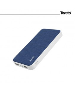 Toreto TOR-33 10000 mAh Li-Polymer Power Bank with Dual Input Charging Ports
