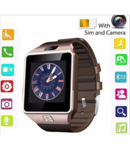 Smart Watch DZ09 Wrist Watch With Camera/Sim Card & TF CARD Supported Smart Watch Compatible with All Android & iOS Devices