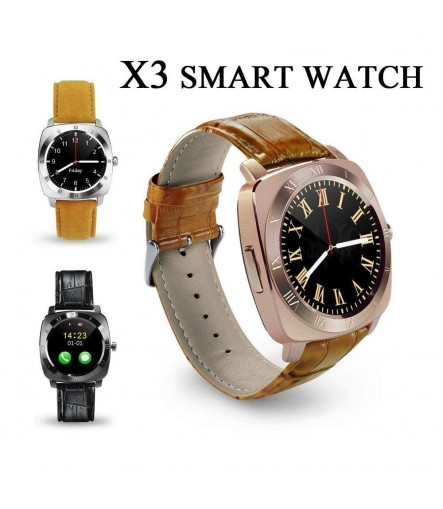 X3 Bluetooth Smart Wrist Watch with Camera (Black)