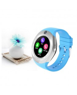 Y15 SmartWatch Touch Screen Support Micro SIM Card with Bluetooth 3.0 Camera (Black)