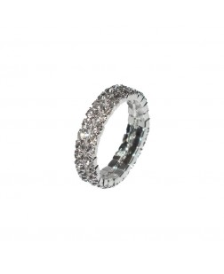 EXOTICAL Cubic Zirconia Silver Colour Plated Elegant Classic Crystal Ring for Women and Girls