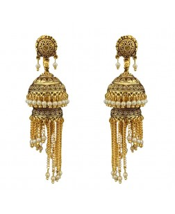 EXOTICAL Jewellery Stylish Fancy Party Wear Jhumki Traditional Earrings For Women & Girls