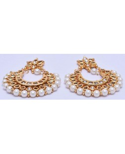 EXOTICAL Fashion Jewellery Gold Plated Stylish Fancy Wear Pearl Jhumki Traditional Earrings For Women & Girls