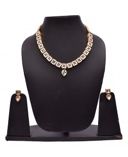EXOTICAL Double Side Wearable Jewellery Kundan Necklace Set with Earrings for Women
