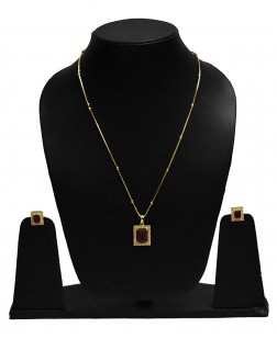 EXOTICAL Red & Gold Traditional Jewellery Pendant for Women & Girls