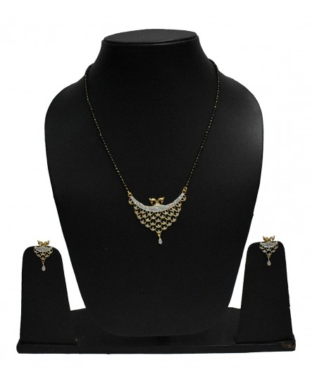 EXOTICAL American Diamond Quality Peacock Inspired Mangalsutra Pendant For Women And Girls