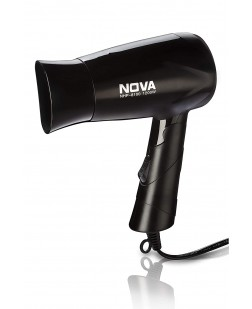Nova NHP-8100 Silky Shine 1200 W Hot and Cold Foldable Hair Dryer (Black)