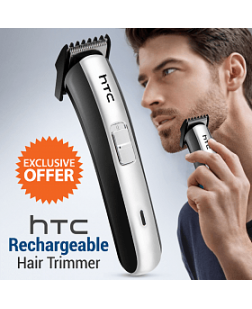 HTC AT-1102 Cordless Hair Trimmer (Multi Color)