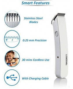 Nova NHT 1046 Cordless Trimmer For Men (White)