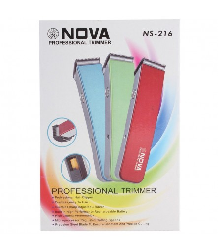 Nova NS-216 Professional Rechargable Trimmer (Multi Color)